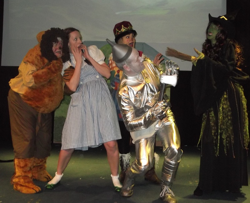 Lion, Dorothy, Scarecrow, Tinman and the Witch